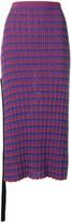 Jil Sander check knitted midi skirt