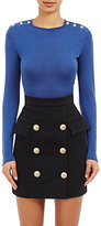 Balmain Women's Fine-Gauge Knit Top-BLUE
