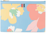 Thom Browne floral clutch bag - women - Cotton/Leather - One Size