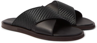 Ermenegildo Zegna Woven Leather Sandals