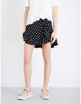 Sandro Polka-dot twill mini skirt