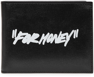 Off-White Black Printed Leather Wallet