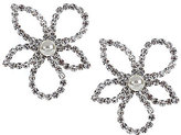 Cezanne Open Flower Rhinestone Drop Earrings