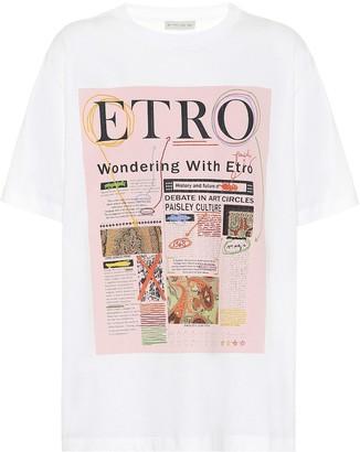 Etro Logo cotton T-shirt