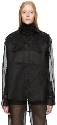 Totême Black Organza Novella Shirt