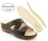Comfortiya Women's Dina Leather Casual Slide Sandal Size 38 M EU / 7.5-8 B(M) US