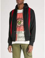 Gucci Striped sports-jersey hooded jacket