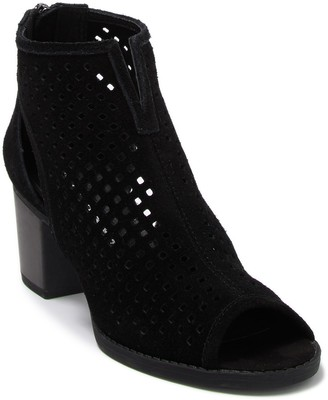 Chinese Laundry Tessa Suede Perforated Peep Toe Bootie