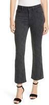 Frame Le Crop Mini Boot High Waist Raw Edge Jeans