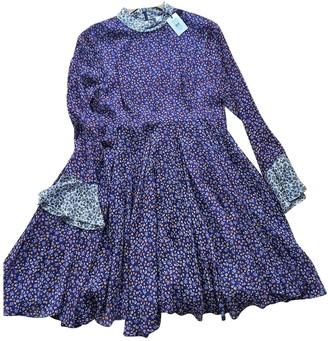 Topshop Tophop Unique Purple Silk Dress for Women