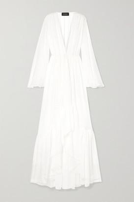 Rasario Ruffled Silk-chiffon Jacket - Ivory