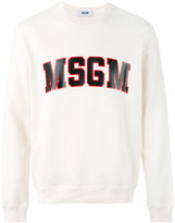 MSGM logo print sweatshirt - men - Cotton - L