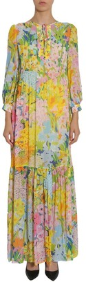 Moschino Floral Print Midi Dress