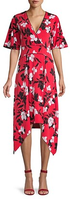 BCBGMAXAZRIA Floral Fit Flare Dress