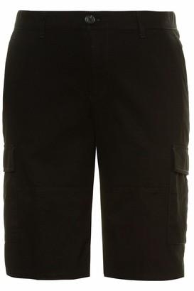 JP 1880 Men's Big & Tall Cargo Bermuda Shorts Black 52 726605 10-52