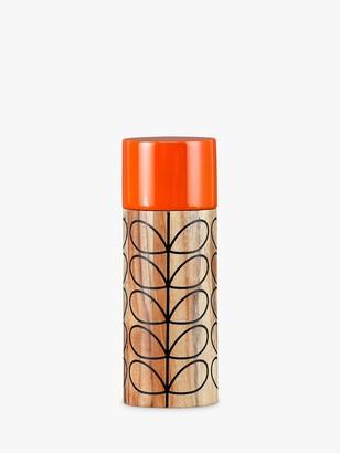 Orla Kiely Linear Stem Acacia Wood Salt/Pepper Mill, Orange/Slate