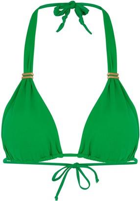 Vix Paula Hermanny V I X Paula Hermanny Bia Green Halterneck Bikini Top