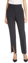 Judith & Charles Murakami Front Slit Stretch Wool Trousers