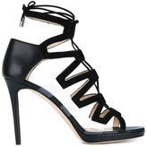 Jimmy Choo 'Dani' sandals - women - Calf Leather/Leather/Suede/Plexiglass - 36