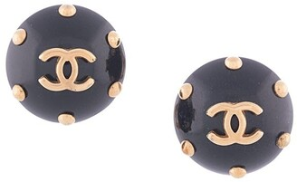 Chanel Pre Owned 1996 CC logo button earrings