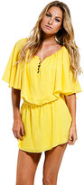 Vix Swimwear Vix Solid Ana Short Dress in Yellow