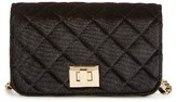 Amici Accessories Quilted Velvet Crossbody Bag - Black