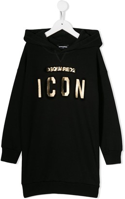 DSQUARED2 Icon hooded dress