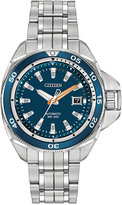 Citizen Men's Automatic Grand Touring Eco-Drive Stainless Steel Bracelet Watch 45mm NB1031-53L