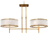 John-Richard Collection Brass Banded Two-Light Chandelier