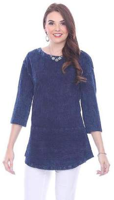 True Blue Deep Blue Blouse