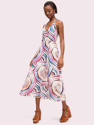 Kate Spade Geobrella Linen Halter Dress