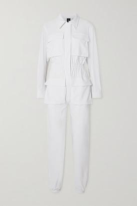 Norma Kamali Cargo Jog Stretch-jersey Jumpsuit - White