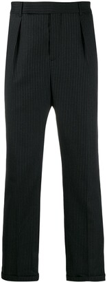 Saint Laurent Pinstriped Cropped Trousers