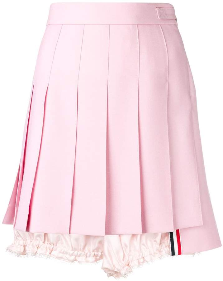 Thom Browne Lace Trim Bloomer Miniskirt