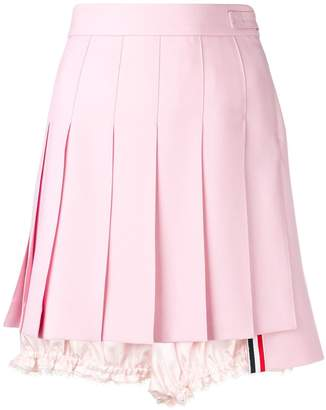 Thom Browne Lace Trim Bloomer Miniskirt