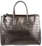 Anya Hindmarch Perforated Metallic Leather Satchel