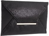 BCBGMAXAZRIA - Matte Sequins Envelope Clutch (Black) - Bags and Luggage