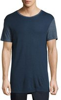 ATM Anthony Thomas Melillo Modal Crewneck Ringer T-Shirt, Navy