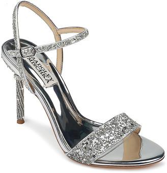 Badgley Mischka Olympia High-Heel Glitter Sandals