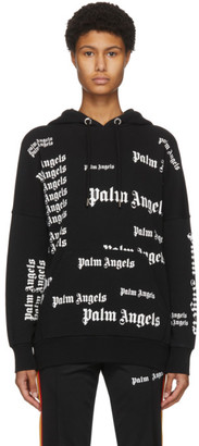 Palm Angels Black Ultra Logo Hoodie