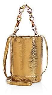 Nancy Gonzalez Women's Small Jojo Chain Metallic Python & Lizard Bucket Bag