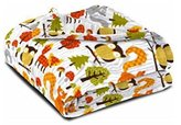 """Idea Nuova Premium Plush Throw- High-End 50""""X60"""" Colorful Throw Blanket- Plush Soft Sofa, Bed Throw In Many Designs- Top Portable Throw, Vibrant Colors, Easily Washed- The Perfect Gifting Idea (Woodland)"""