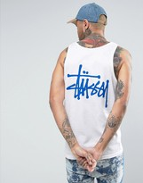 Stussy Vest With Logo Back Print