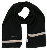 Sonia Rykiel Black Raw-Edge Scarf