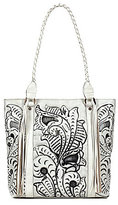 Patricia Nash Vintage White Washed Collection Rena Tasseled Tote
