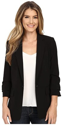 MICHAEL Michael Kors New Boyfriend Blazer (Black) Women's Jacket