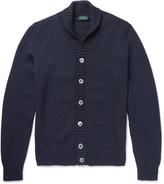 Incotex - Shawl-collar Virgin Wool Cardigan