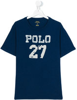 Ralph Lauren Polo 27 print T-shirt - kids - Cotton - 14 yrs