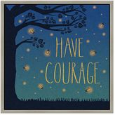 "Green leaf art ""Have Courage"" Framed Canvas Wall Art"
