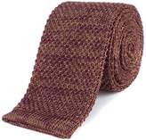 Gibson Burgundy and Camel melange knitted tie